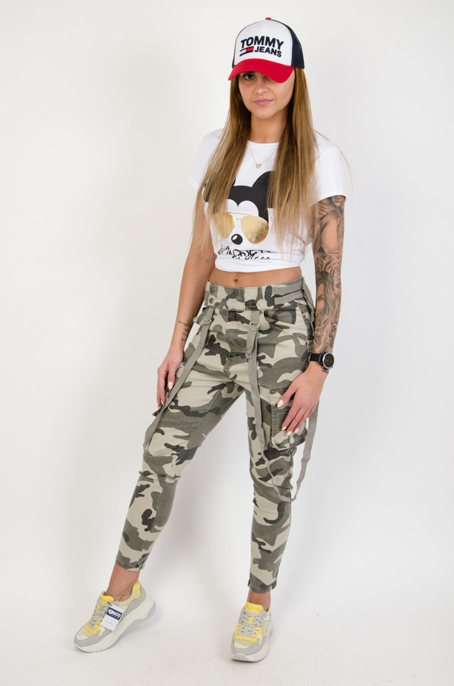 16a32e0e04c288 Spodnie damskie z wysokim stanem, tanie: czarne, jeansy, rurki - Olika