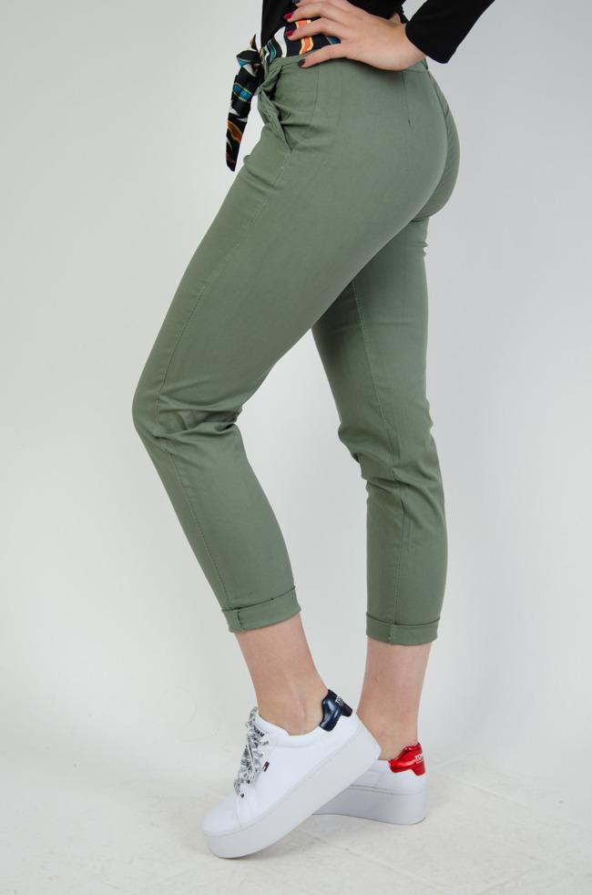 90286efb87df Spodnie damskie z wysokim stanem