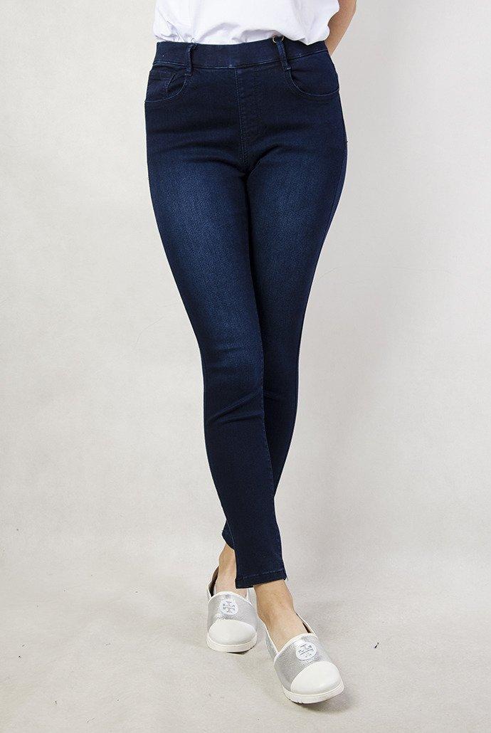 a15e1a5c7d23db Rozmiary L-XXXXL) Granatowe spodnie z gumką w pasie   KOLEKCJA ...