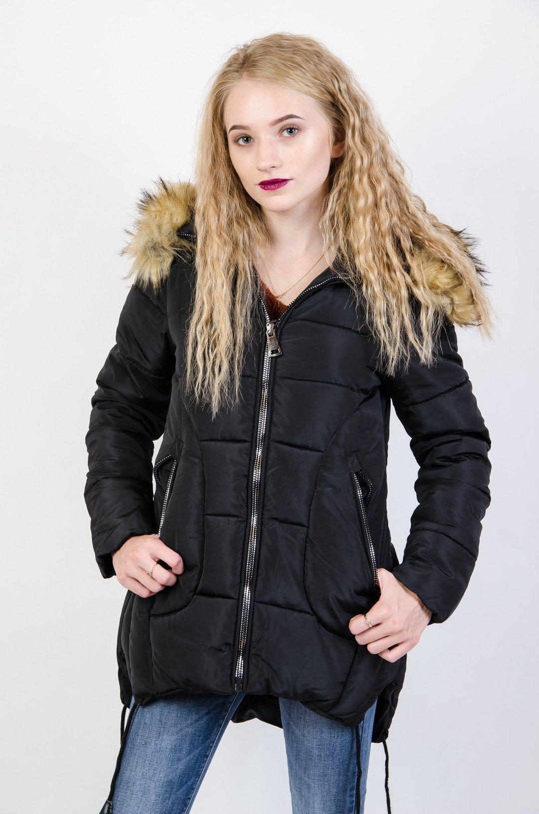 135223f1404c2 Czarna kurtka pikowana z rozcięciami po bokach czarny | NOWOŚCI KOLEKCJA \  Kurtki i płaszcze \ Kurtki zimowe KOLEKCJA \ Kurtki i płaszcze \ Kurtki  parki ...