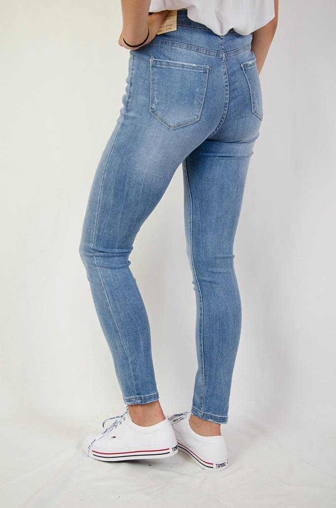 Duże rozmiary L 4 XL Jasne spodnie jeansowe