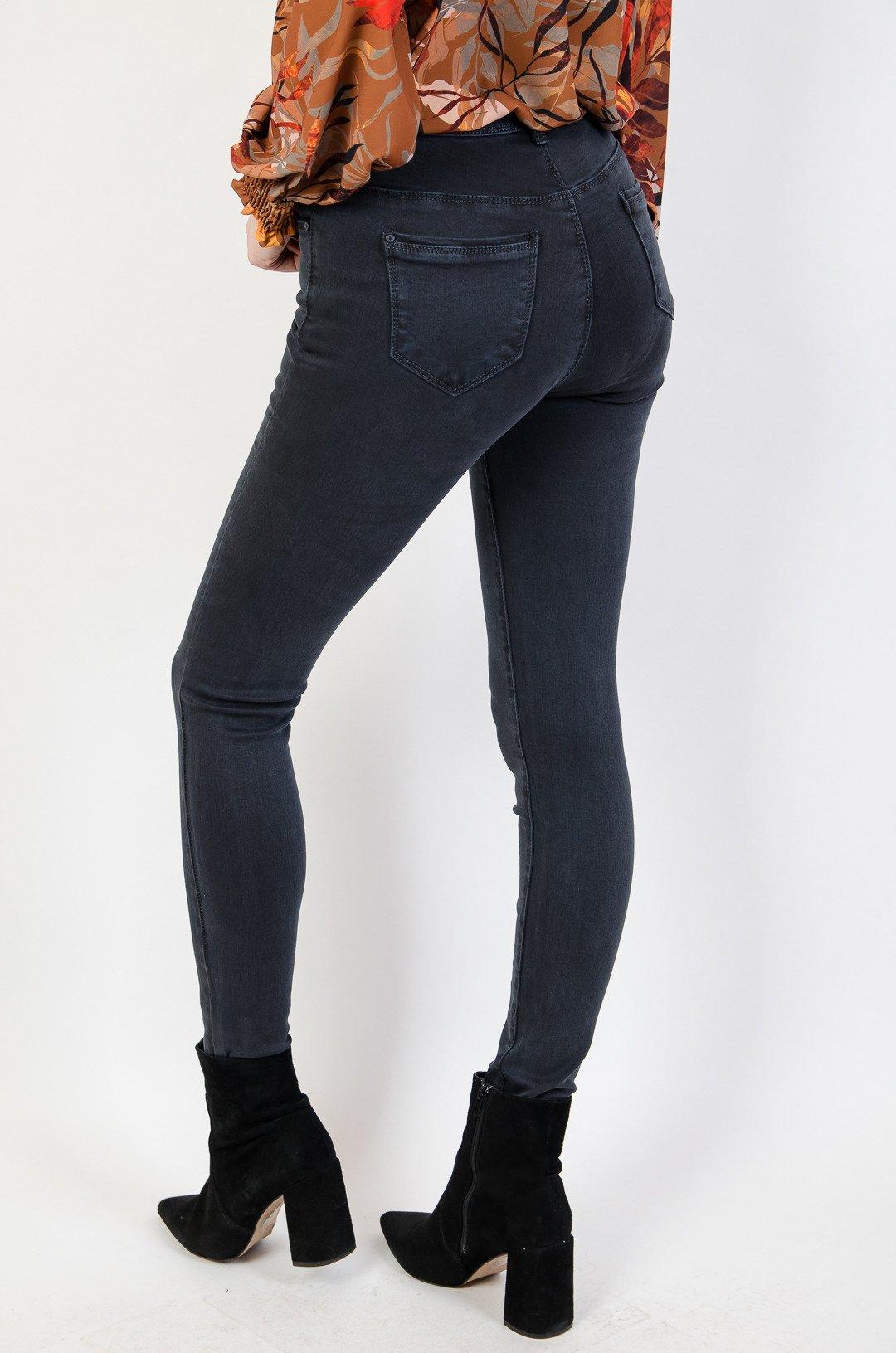 a99a16c26b0c1e Grafitowe spodnie jeansowe super skinny grafitowy | NOWOŚCI KOLEKCJA ...