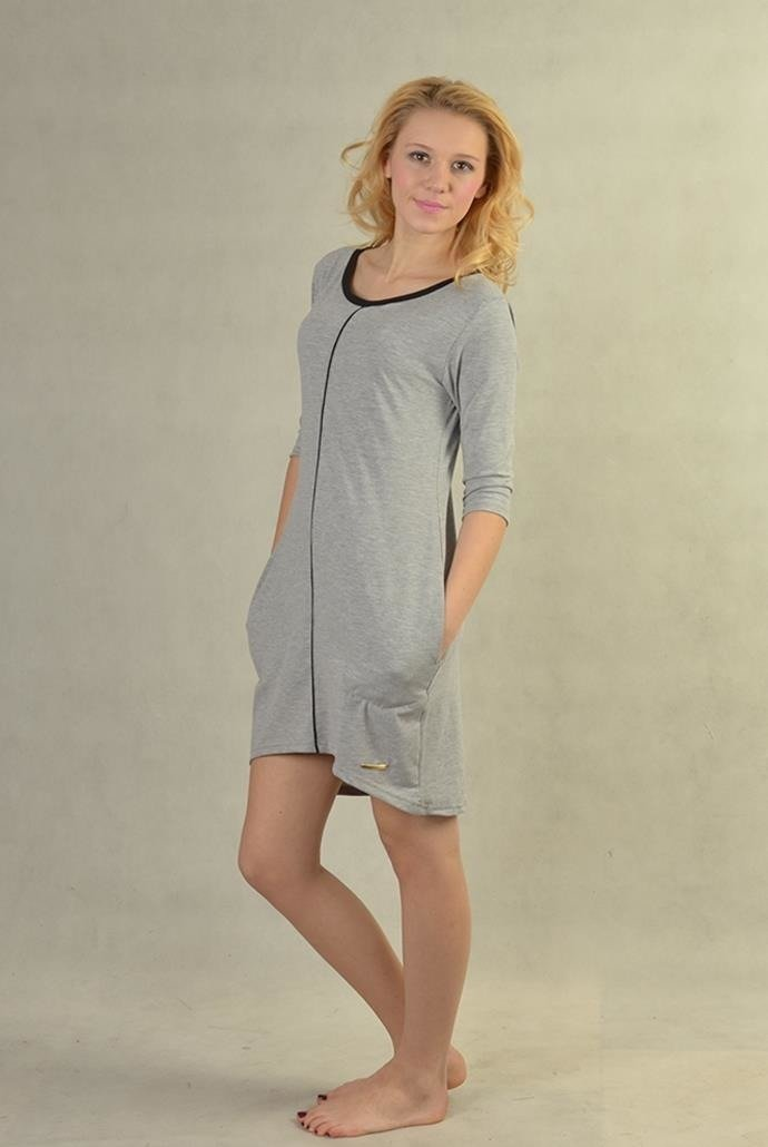 ab84fc2a0c Sportowa szara sukienka