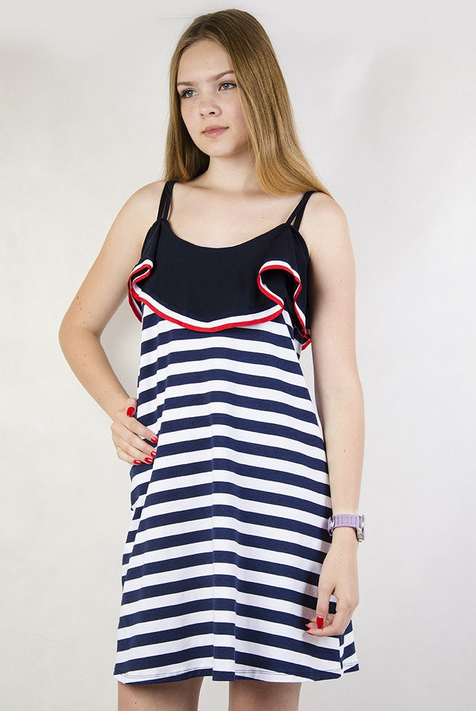 acc21c7c883f8a Sukienka w paski, na ramiączka | KOLEKCJA \ Sukienki WYPRZEDAŻ ...