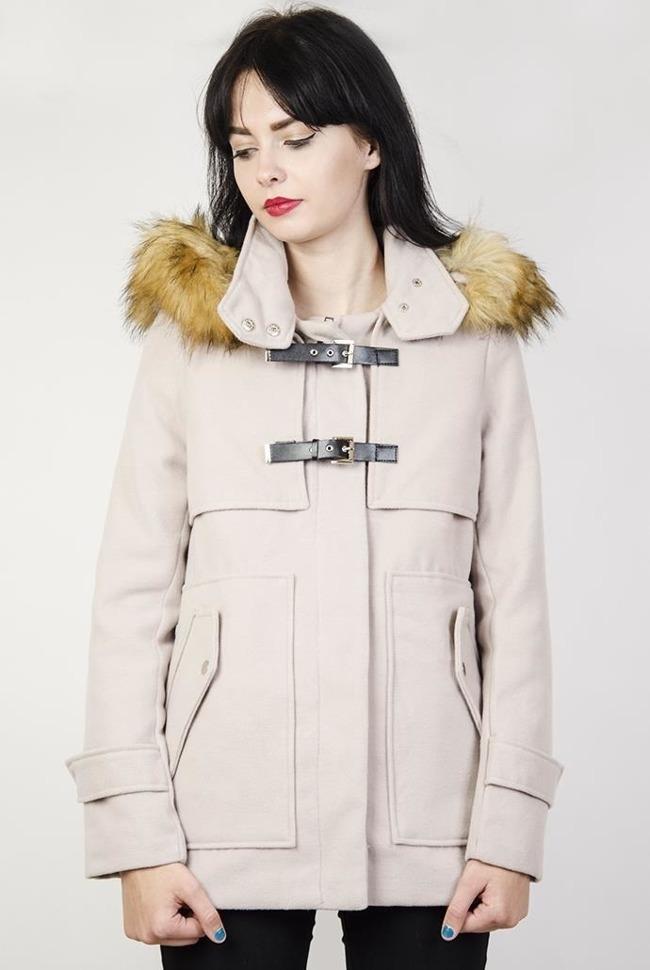 15f24e180a44 Beżowy płaszcz