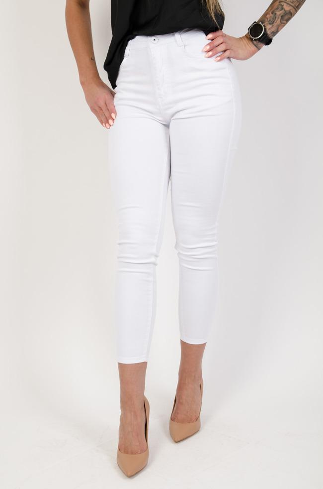 99450dd903 Białe dopasowane spodnie plus size (m-4xl)