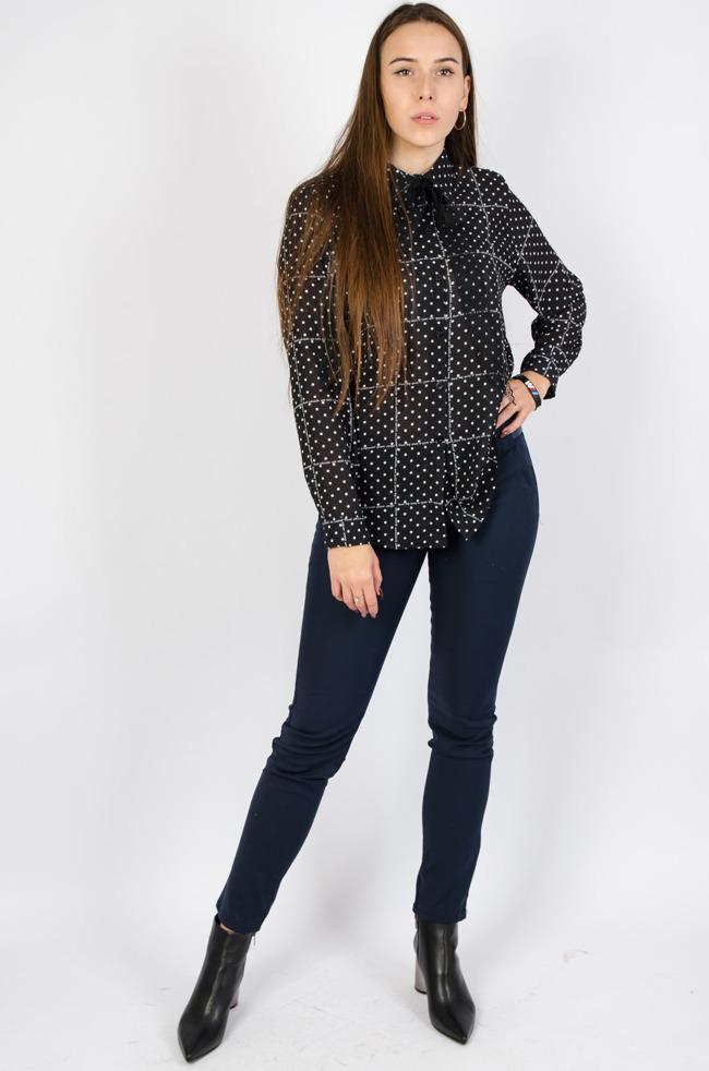 Eleganckie koszule damskie gładkie, w wzory Olika  pHcz0