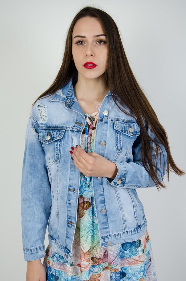 d588976d08f2c Kurtki zimowe damskie, płaszcze jesienne, jeansowe, pikowane - Olika