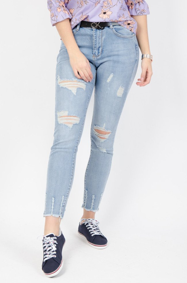 Spodnie Plus Size, XXL, damskie rurki duże rozmiary, wysoki