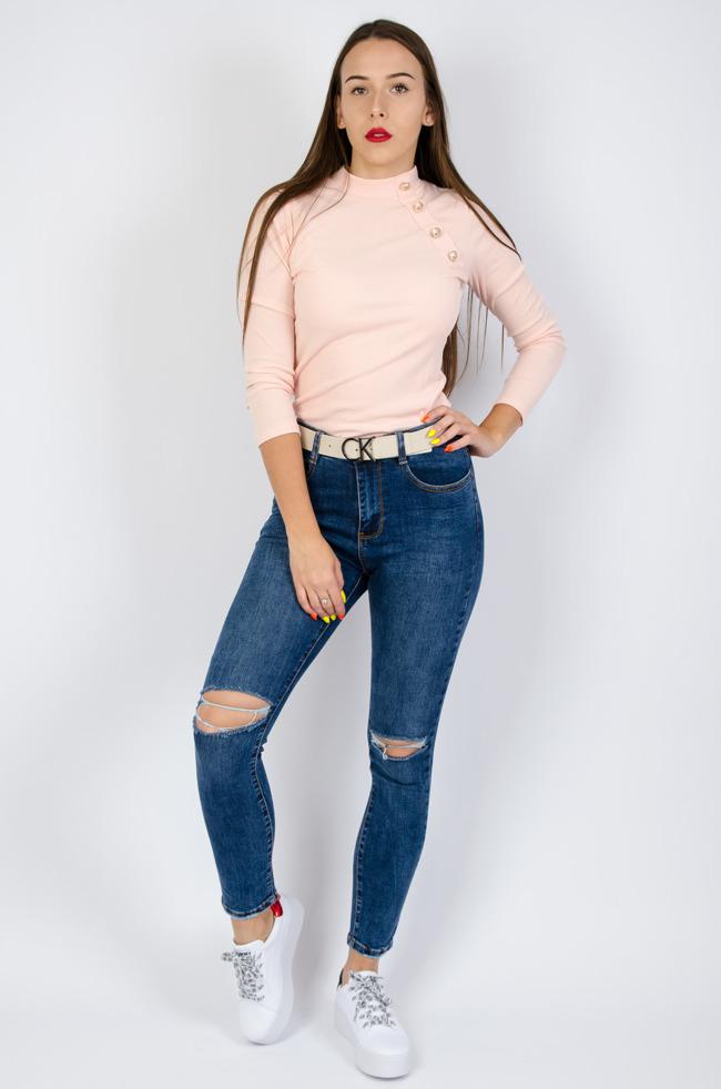 14d21f1d412a08 Spodnie damskie z wysokim stanem, tanie: czarne, jeansy, rurki - Olika