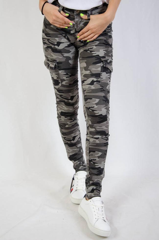 e2f0c5c81d611d Spodnie moro z kieszeniami, idealnie przylegające