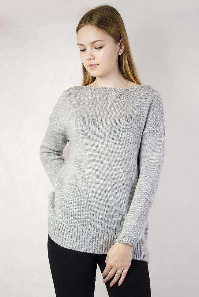 21e405aa30 Ulubione Sweter Z DłUżSzym TyłEm HIW05
